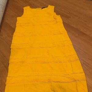 New York and Company dress yellow sz medium